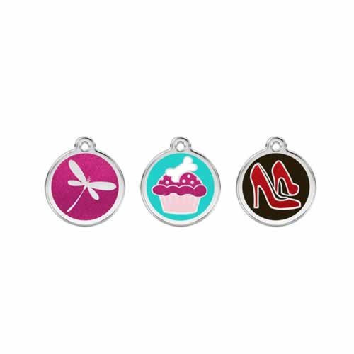 Stainless Steel with Glitter Medium Dog ID Tags (Design 2) 1