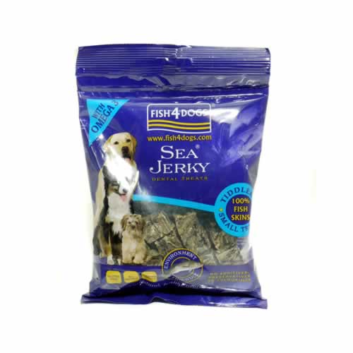 Fish 4 dogs sea jerky tiddlers 100g for Is fish bad for dogs