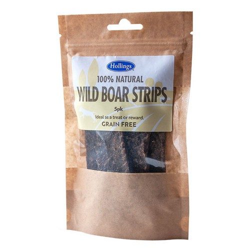 Hollings 100% Natural Wild Boar Strips 1
