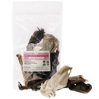 JR Pet Products Lamb Ears with Hair 100g