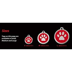 Stainless Steel with Glitter Medium Dog ID Tags (Design 1) 2
