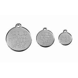 Stainless Steel with Glitter Medium Dog ID Tags (Design 1) 3