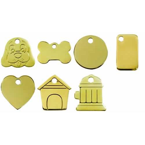 Flat Brass Medium Dog ID Tags 1